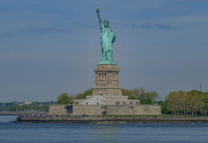Statue of Liberty and Battery Park