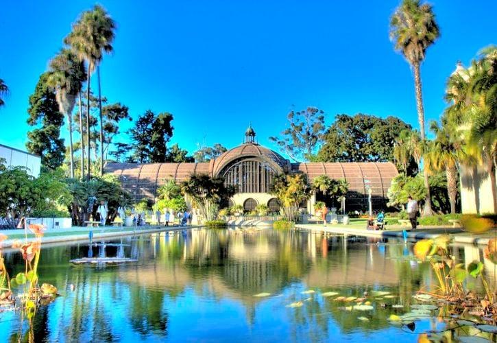 The Botanical Building and the Inez Grant Parker Memorial Rose Garden (Balboa Park)