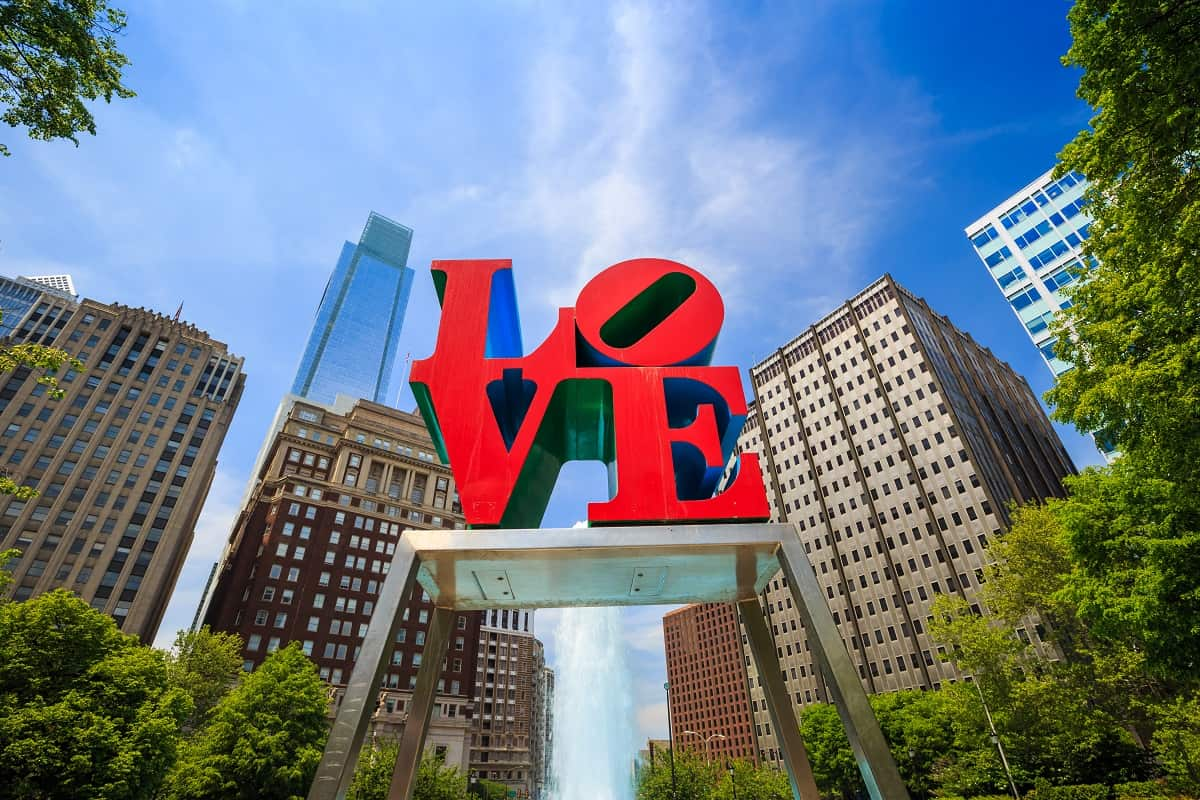 Center City Shopping and LOVE Park