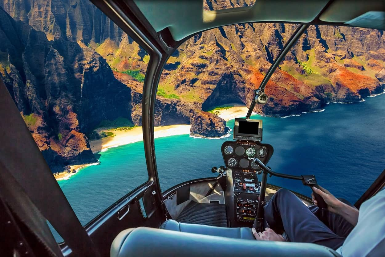 Take a Helicopter Tour Over the Island