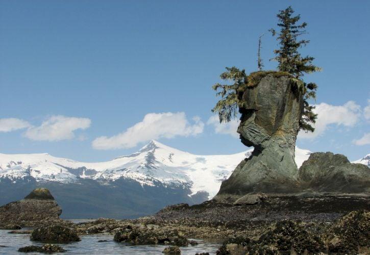 Natural Rock Face, Petersburg, Alaska