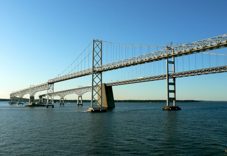 The Chesapeake Bay Bridge, Maryland