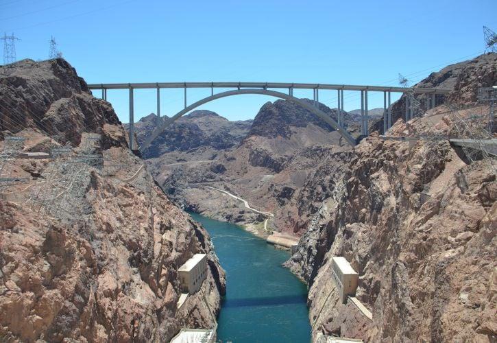Hoover Dam, Border of Arizona and Nevada