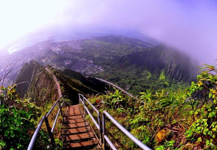 Haiku Stairs of Oahu, Hawaii