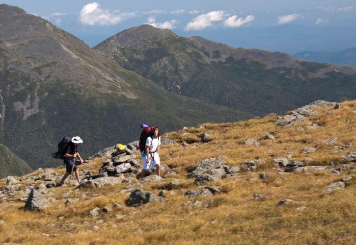 Hiking the Appalachian Trail through the White Mountains, New Hampshire