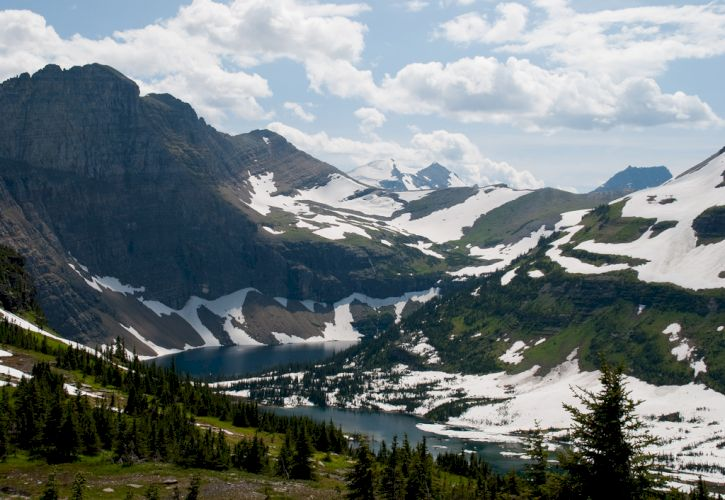 Bicycling in Glacier National Park, Montana