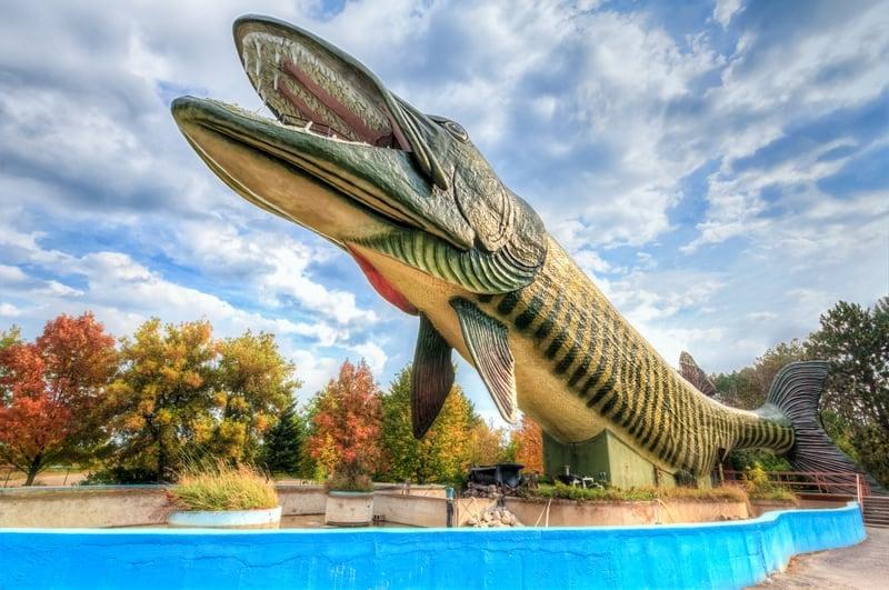 World's Largest Fish Statue – Hayward, Wisconsin