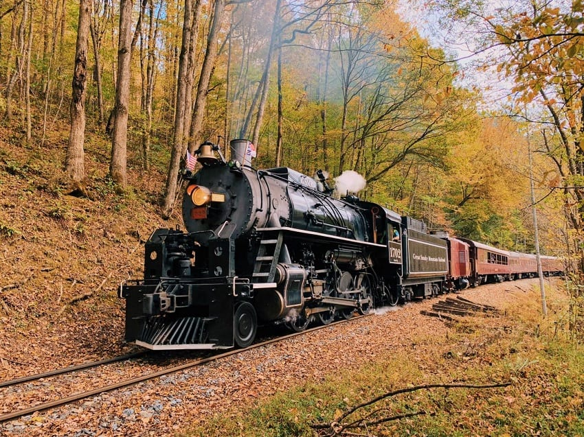 Ride the Great Smoky Mountain Railroad