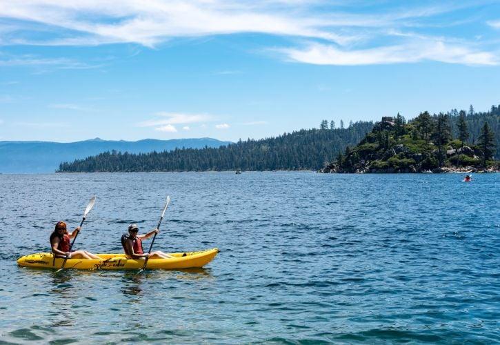 Kayaking at Lake Tahoe
