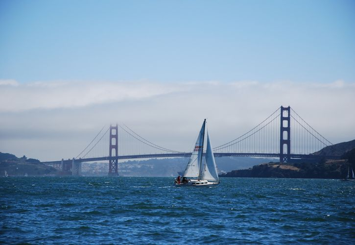Sailing at the Golden Gate in San Francisco