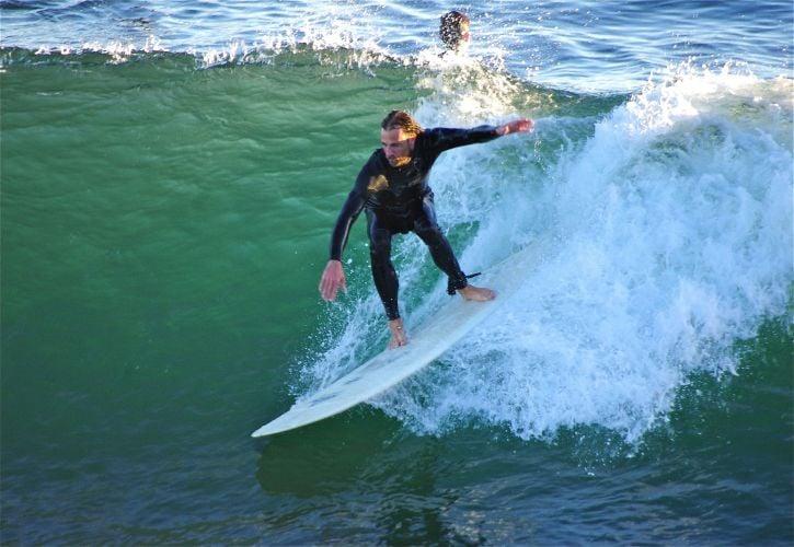 Surfing in Santa Cruz, California