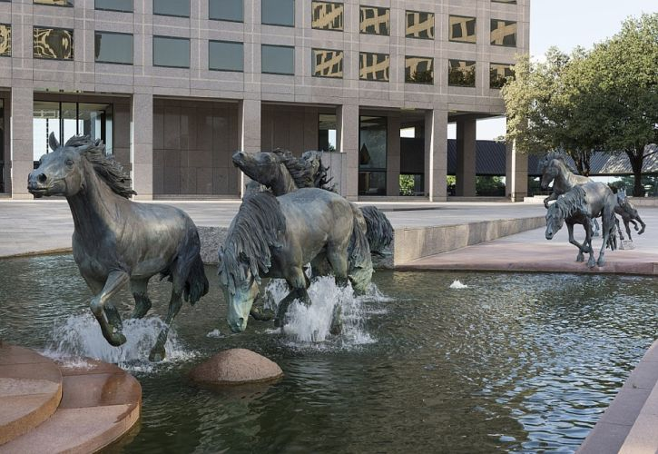 Mustangs by Robert Glen, Las Colinas, Texas