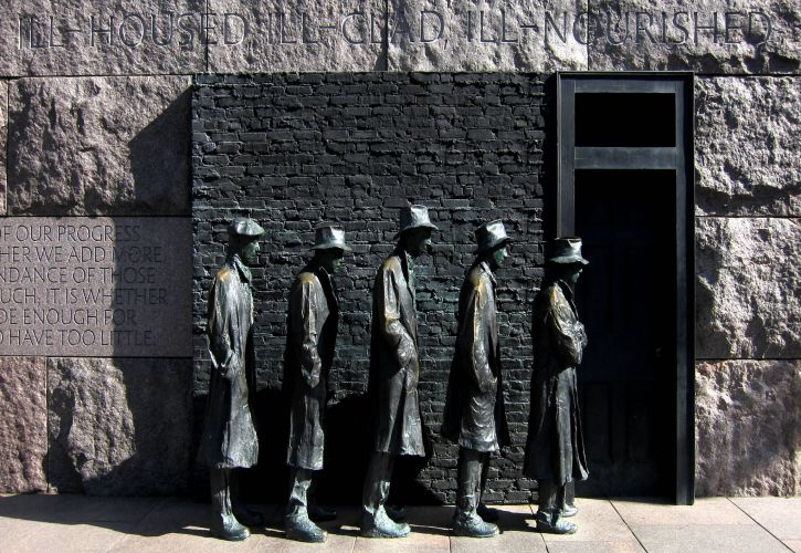 Great Depression Breadline Statue, New Jersey