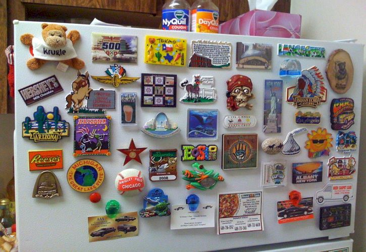 Make fridge magnets with them