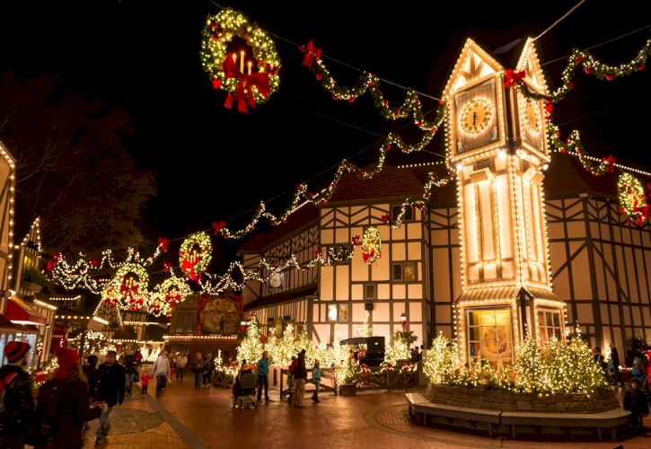 Christmas Town at Busch Gardens, Williamsburg, Virginia
