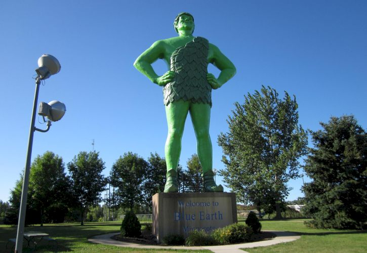Jolly Green Giant Statue, Blue Earth, Minnesota