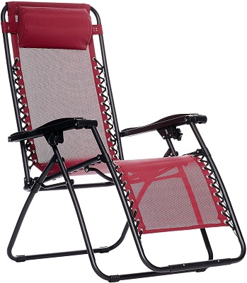 AmazonBasics Zero Gravity Folding Chair