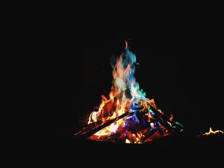 Magical Flames Campfire Colors