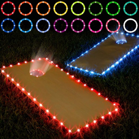 Cornhole Camping Game with LED Lights