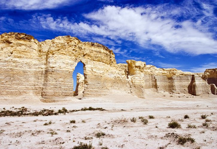 Monument Rocks, the Chalk Pyramids