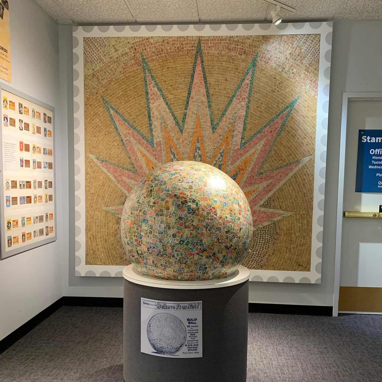 World's Largest Stamp Ball
